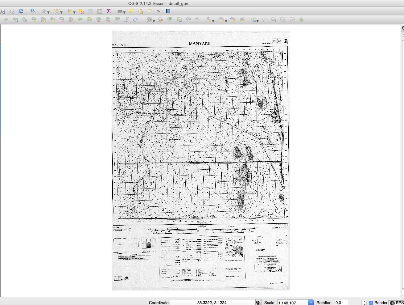 QGIS Georeferenzierung Ergebnis