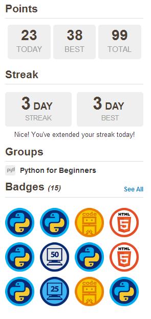 Meine ersten Fortschritte