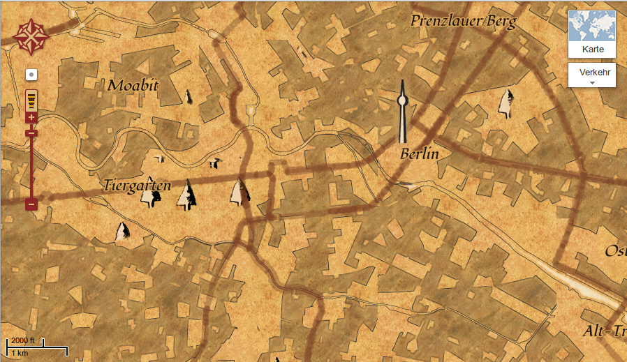 Berlin- the old way in Google Maps