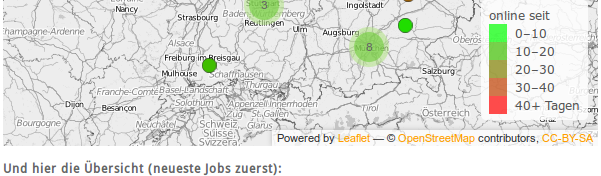 newest jobs in Germany for GIS-related positions