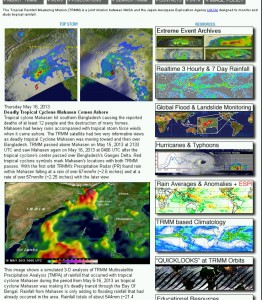 Data on extreme events, hurricanes, floods, and even landslide risk are available.