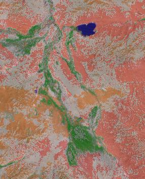 unsupervised_classification superimposing a google satellite layer