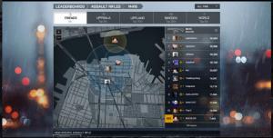 Ansicht des Leaderboards auf einer zoombaren Karte.