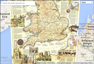 medieval England 1979 google maps