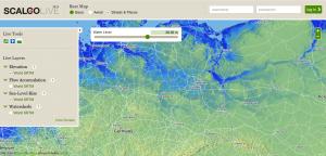 meeresspiegel anstieg karte, interaktive Karte