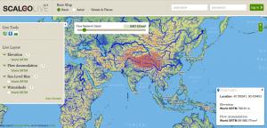interaktive karte, Wasser, Flüsse, Einzugsgebiet, Fluss, Karte