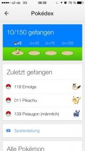catched Pokémons