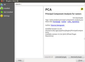 PCA plugin qgis