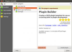 plugin builder in QGIS
