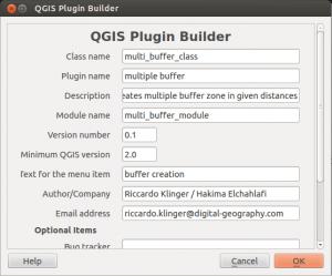 setting plugin builder QGIS