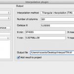 inerpolation dialog TIN