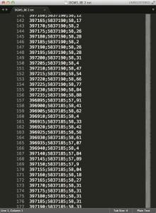 LIDAR txt file