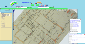 Drawing in detail on the map of OpenWebGIS