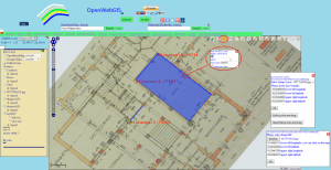 Drawing on the map of OpenWebGIS with legend settings of vector layers with dimensions