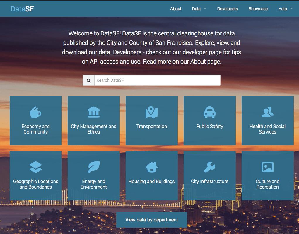 Landing Page DataSF