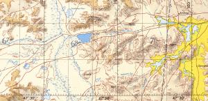Ugii Nuur Mongolia, map