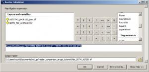 Raster Calculator ArcGIS