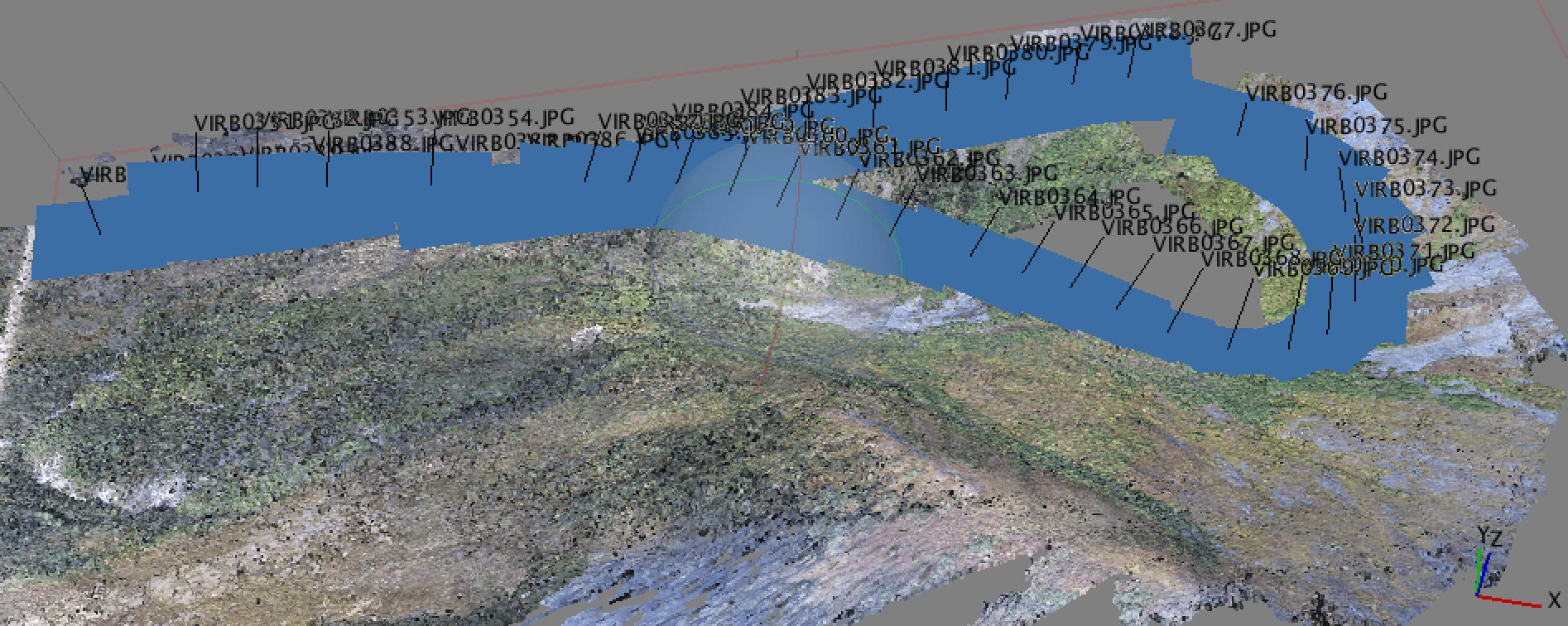 Image Geotagging. Geotagged images with 3D point cloud.