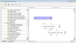 Minimalbeispiel für die Erstellung eines QGIS-Funktionsmodells