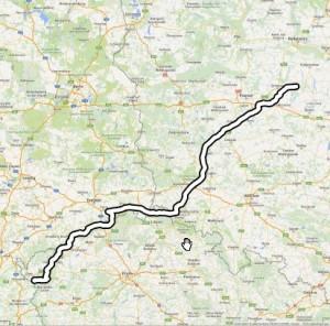 googlemaps route in QGIS