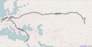 routes in QGIS