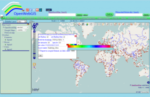 Figure 3 - Create a gradient of colors by the user in OpenWebGIS interface