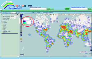 Figure 4 - The legend of heatmap in the OpenWebGIS interface
