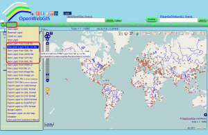 Figure 1 - Add to the map the data from your file