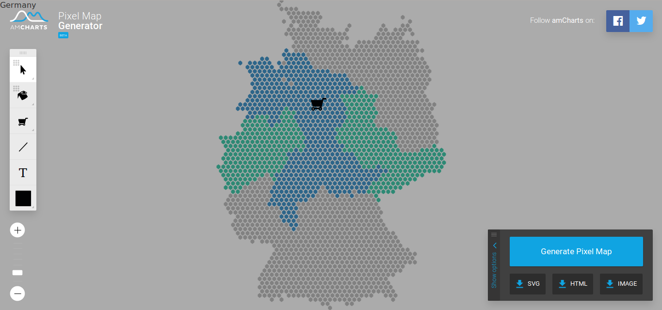 Pixel Map Generator Example Germany