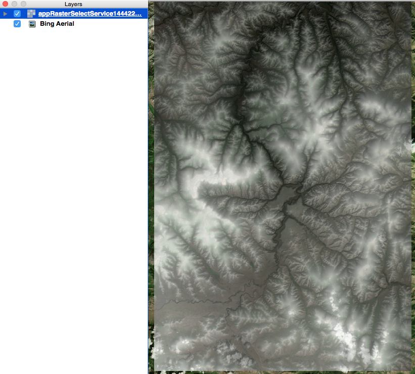 SRTM 1 with Bing Map