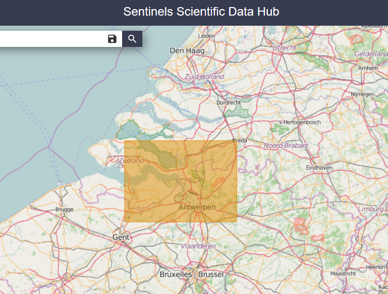 Set your area of interest by clicking and dragging your mouse over the map