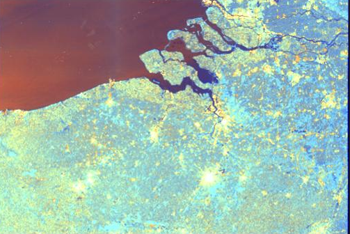 Sentinel-1 image over the Netherlands (c) ESA