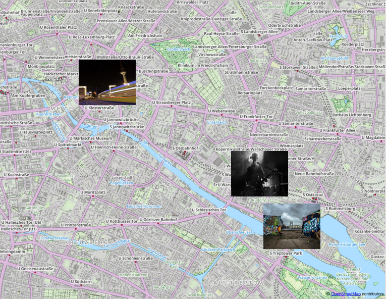 Berlin images found with flickr2qgis