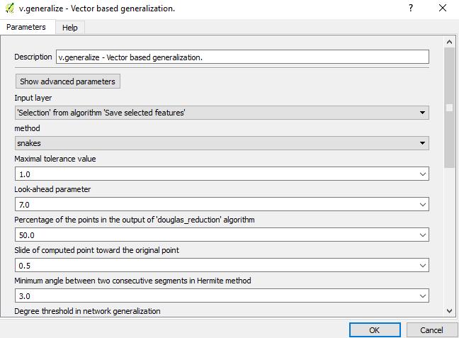 Generalization tool in QGIS