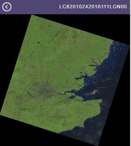 Libra image browser for Landsat