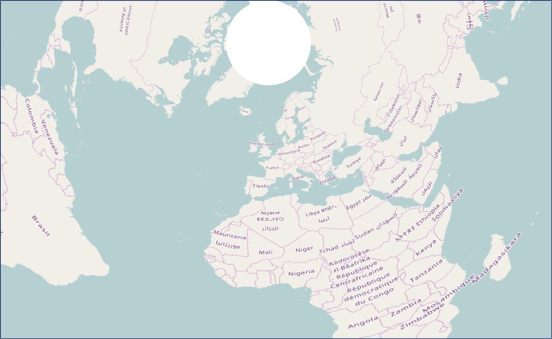 EPSG:102016 North Pole Azimuthal Aequidistant