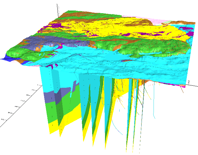 Web Geological Model of Flin Flon volcanogenic massive sulfide deposits.