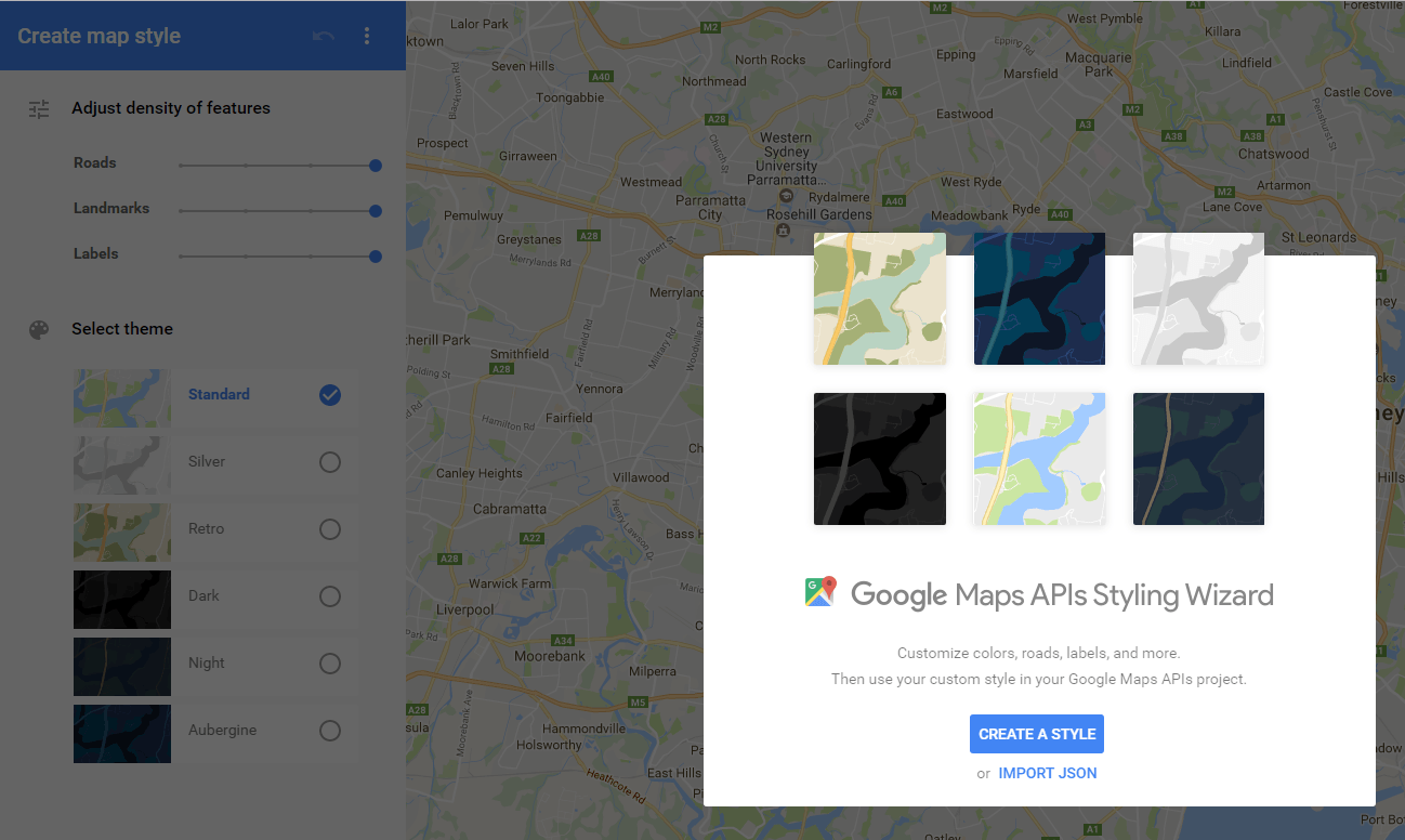 Mapstyle with Google Screenshot