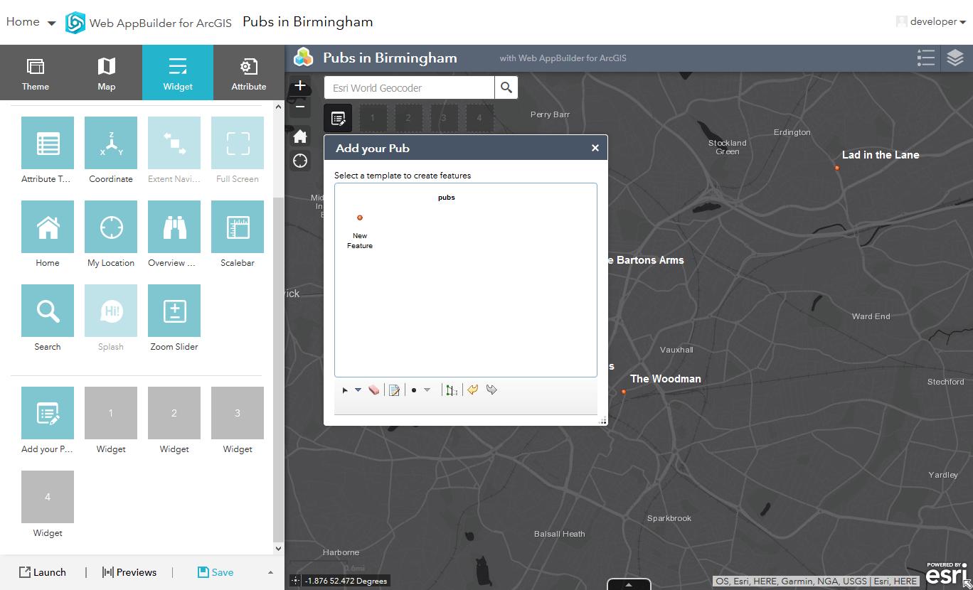 edit widget app web agol