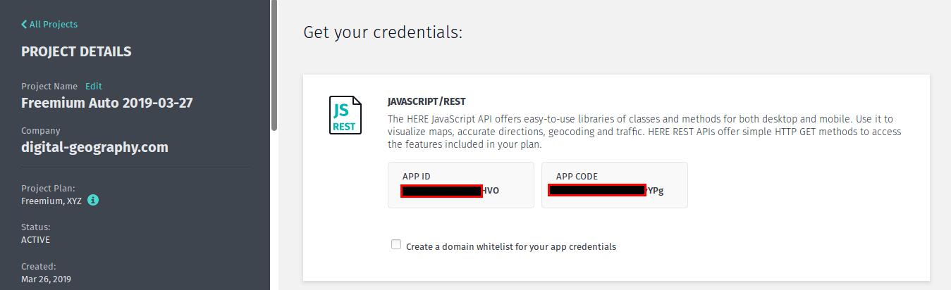 Credentials in the Freemium plan